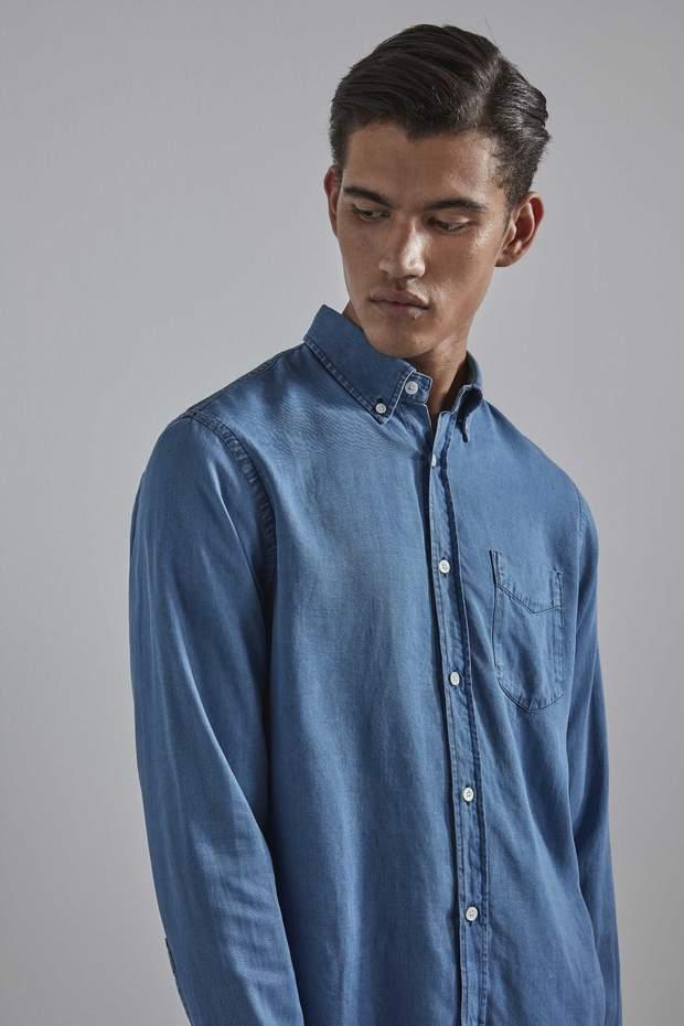 Levon Shirt 5767 Tencel | Light Blue | NN07 Official Webshop
